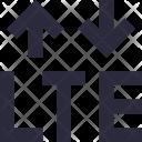 Lte Network Arrows Icon