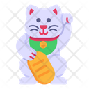 Japanese Cat Lucky Cat Cat Icon