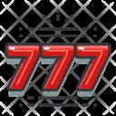 Lucky Seven Gambling Icon