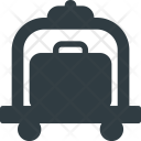Luggage Carry Cart Icon
