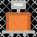 Luggage Checker Trolley Icon