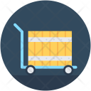 Luggage Trolley Parcel Icon