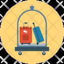Luggage Cart Hotel Icon