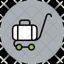Luggage Hotel Trolley Icon