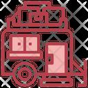 Transportation Camping Trailer Icon