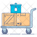 Luggage Cart Pallet Truck Cart Icon