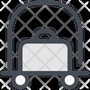 Trolley Hotel Luggage Cart Icon