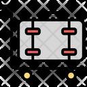 Luggage On Trolley Icon