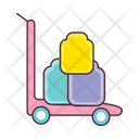 Luggage Pushcart Icon