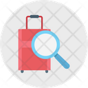 Luggage Scanning Magnifier Inspection Icon