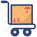 Luggage Trolley Luggage Cart Hand Truck Icon