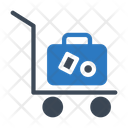 Luggage Trolley Briefcase Icon