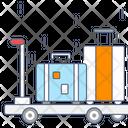 Cart Luggage Cart Luggage Trolley Icon