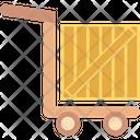 Luggage Trolley Parcel Platform Truck Icon