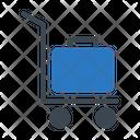 Luggage Trolley Bag Icon