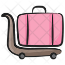 Luggage Trolley Luggage Cart Pushcart Icon