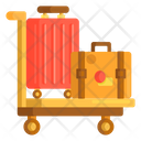 Luggage Trolley Luggage Travelling Bags Icon