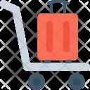 Luggage Trolley Hotel Icon