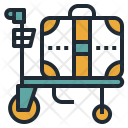 Airport Trolley Cart Icon