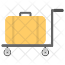 Luggage Trolley Moving Icon