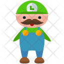 Luigi Character Man Icon