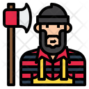 Ilumberjack Lumberjack Cartoon Icon