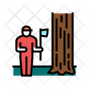 Lumberjack Chopping Wood Icon