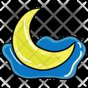 Lunar Eclipse Solar Eclipse Half Moon Icon