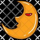 Lunar Eclipse Half Moon Astronomy Concept Icon
