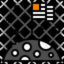 Moon Flag Lunar Icon