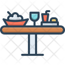 Lunch Food Table Icon