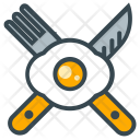 Lunch Fried Egg Icon