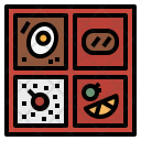 Bento Rice Fish Icon