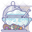 Bottle Eating Lunch Icon
