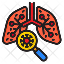 Infected Lung Check Infect Icon