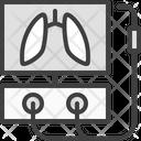 Lung Ventilator Coronavirus Icon