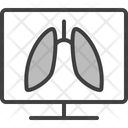 Fluorography Lungs Pneumonia Icon