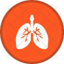 Lungs Breathe Medical Icon