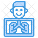 X Ray Lungs Anatomy Icon