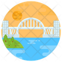 Lupu Bridge Arch Bridge Footbridge Icon