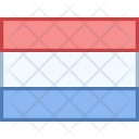 Luxembourg Flag Country Icon