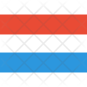 Luxembourg Flag World Icon