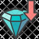 Luxury Diamond Down Icon