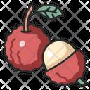 Fruit Vegan Lychee Icon