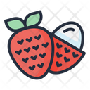 Lychee Fruit Food Icon