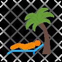 Lying On Beach Icon