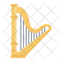 Lyre Harp Greek Instrument Icon
