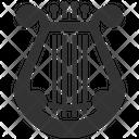 Lyre Harp Musician Icon
