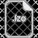 Lzo File Document Icon