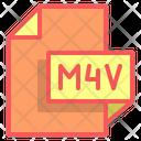 M 4 V File Format File Icon